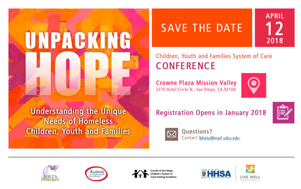 Unpacking Hope Conference Save the Date