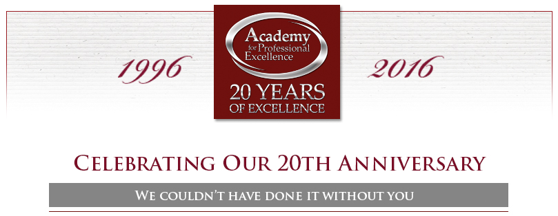20th Anniversary Event Header