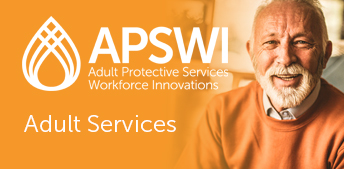 APSWI - Adult Services logo and happy elderly man