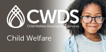 CWDS - Child Welfare logo and happy child