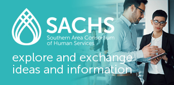 SACHS - Southern Area Consortium of Human Services logo and working professionals