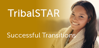 Tribal STAR logo and smiling native american woman