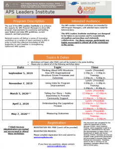 APS Managers Workshop Flyer
