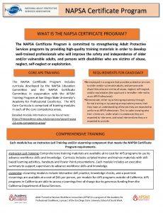 NAPSA Certificate Program Flyer