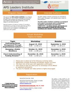 APS Managers Flyer