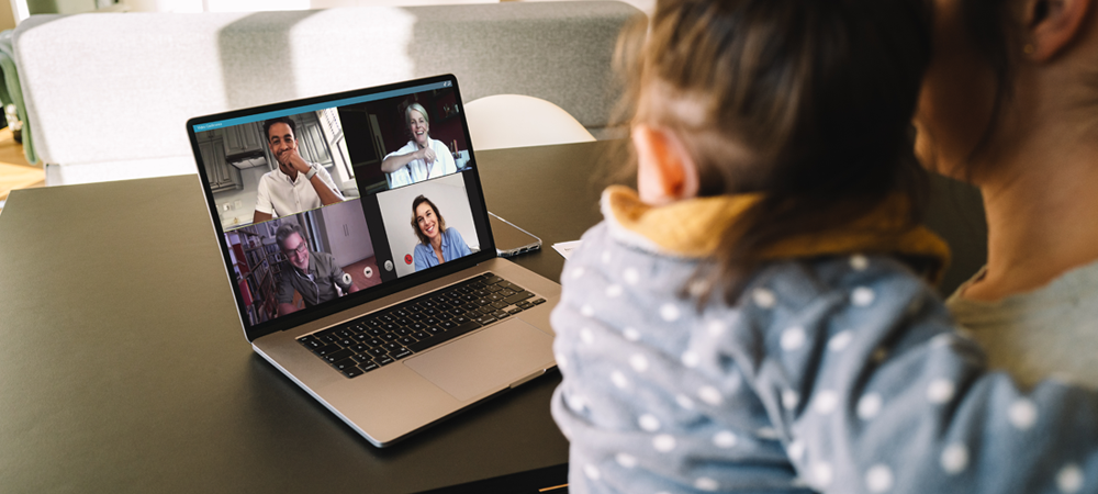 Child Virtual Meeting with Friends Family in a Pandemic
