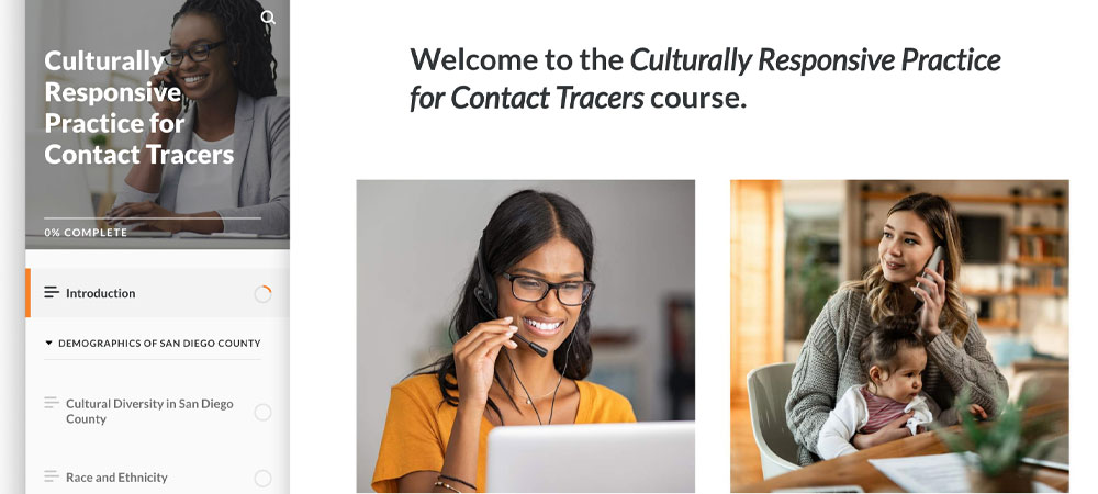 eLearning Culturally Responsive Practice for Contact Tracers Hermes Awards 2021